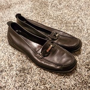 Salvatore Ferragamo Black Loafer Driving Moccasin